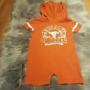 Infant boy Texas longhorn romper
